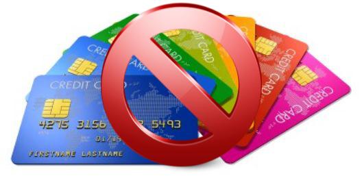 クレジットカード禁止